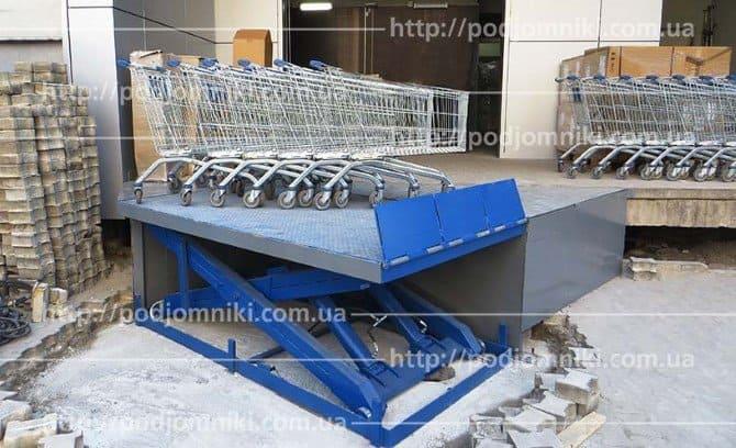 грузовой подъемник для склада магазина